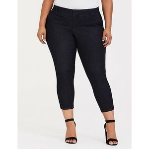 Torrid Dark Wash Trouser Ankle Skinny Jeans
